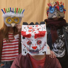 Team Textiles: Masked Family Portraits